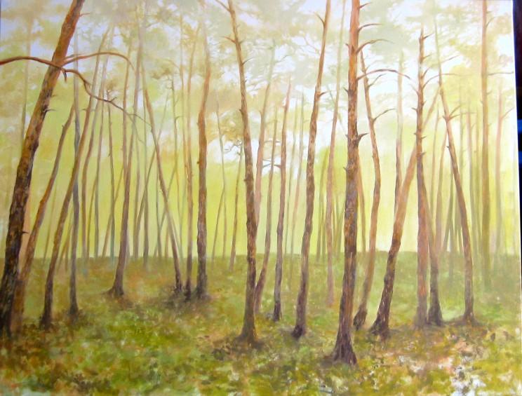 cuadro bosque encargo