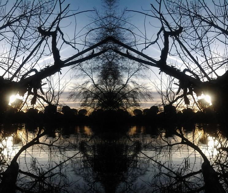simetría sencilla  atardecer