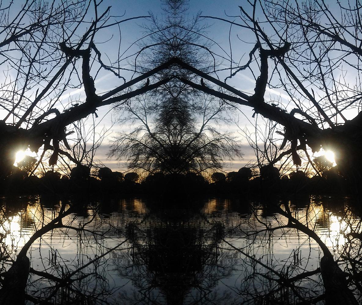 pararevelar-simetría sencilla  atardecer